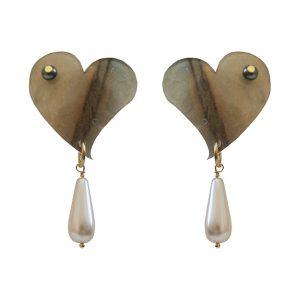 pendientes de novia perla